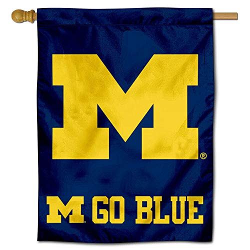 College Flags and Banners Co. Michigan Wolverines Go Blue Double Sided House Flag