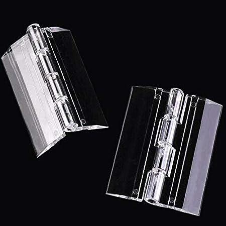 Bisagras de puerta Supertool transparentes 25 mm-300 mm tama/ño L//M//S bisagras de pl/ástico acr/ílico resistente para puerta transparente 10 unidades piano armario y piano