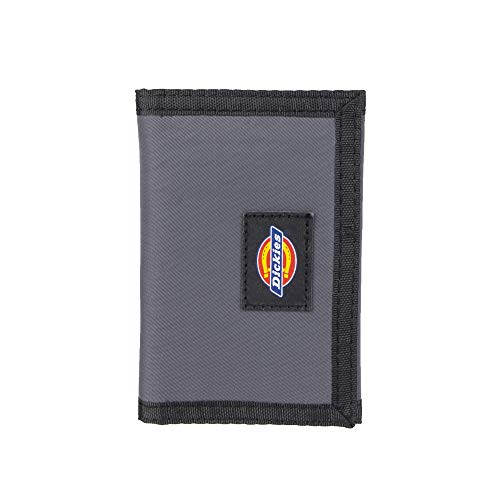 Dickies Men's Nylon Trifold Wallet, gray, One Size