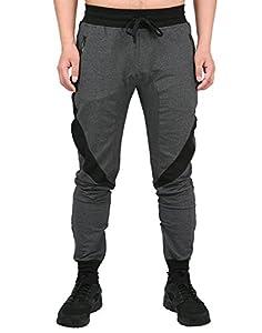 HDE Mens Workout Jogger Gym Sweatpants - Inner Zipper Ankle - 4 Zippered Pockets