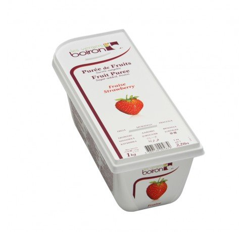 Strawberry Puree - Frozen - 85% Fruit - 2.2Lbs - Kosher
