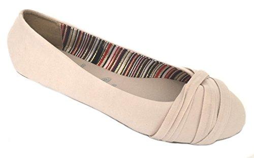 Shoes8teen Sko 18 Kvinner Ballerina Ballett Flate Sko Faste Stoffer Og Leoparder ... Beckie Naken