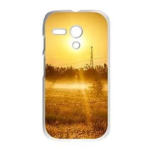 Motorola G Cell Phone Case White Nature Country Sunrise Landscape VIU132799
