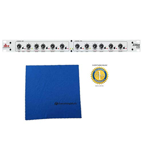 dbx 234xs Stereo 2/3 Way, Mono 4-Way Crossover with Microfiber and Free EverythingMusic 1 Year Extended Warranty