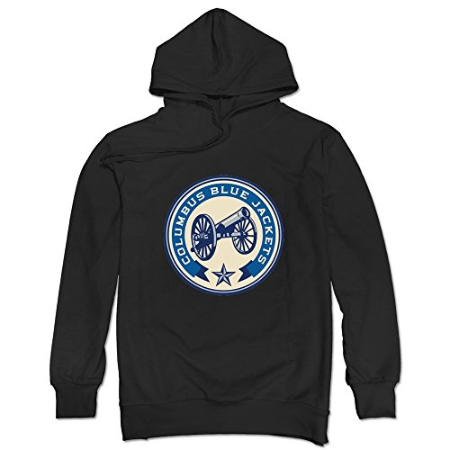- JUST Men's Old Time Columbus Blue Jackets Cannon Logo Hoodie Black