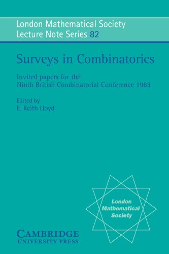 Surveys in Combinatorics: Invited Papers for the Ninth British Combinatorial Conference 1983 (London Mathematical Societ