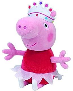 Peppa Pig - Peluche de Peppa bailarina con tutú, corona, 25 cm (TY