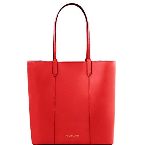 81414394 - TUSCANY LEATHER: DAFNE - Sac shopping en cuir Ruga, Rouge