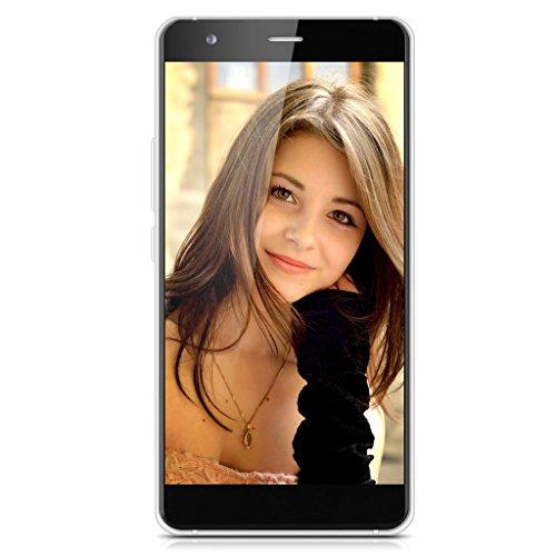 MOREFINE MAX1 5,0 Zoll 4G-LTE-Smartphone Dual SIM Quad Core 2GB RAM + 16GB ROM Android 5.1 Handy Ohne Vertrag Dual Kamera GPS 2.5D ONCELL Screen schwarz