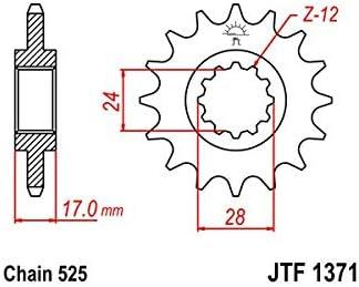 Compatible avec 600 HORNET-98//06 600 CBF-04//07-600 CBR F3-97//98-PIGNON 14 DENTS ACIER-JTF1371.14