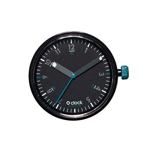"""O clock - Reloj """"Fullspot"""", con caja y segundero en color negro"""