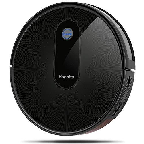 Bagotte BG600 Robotic Vacuums Cleaner, Slim & Quiet, 1500Pa High Suction, Smart Robot Vacuum Automatic Sweeper for Pet Hair, Carpet, Hardwood Floors, Tile