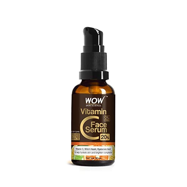 WOW Skin Science Vitamin C Serum - Skin Clearing Serum - Brightening, Anti-Aging Skin Repair, Supercharged Face Serum… 2021 July Help revive your dull complexion and add radiance with WOW Skin Science 20% Vitamin C Face Serum Vitamin C, witch hazel and hyaluronic acid help to fade pigmentation, fight signs of aging brought on by free radicals, brighten and nourish skin This serum helps to improve skin€™s luminosity and lightens the complexion.A skin brightening face serum with active vitamin C, witch hazel and hyaluronic acid