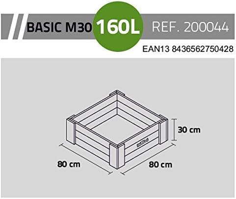 Hortalia Huerto Urbano Jardinera BOX BASIC M30 80x80x30 160 l ...