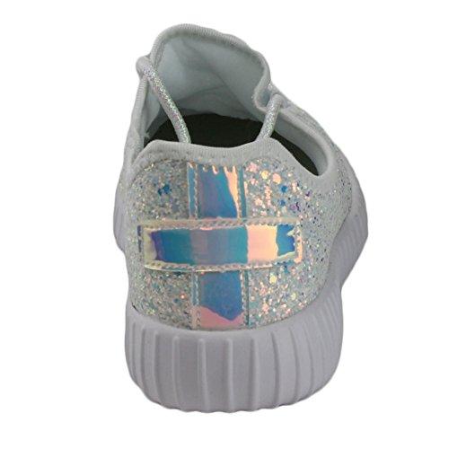 Per Sempre Collegano Le Scarpe Da Donna Remy-18 Glitter   Scarpe Da Ginnastica Di Moda   Scarpe Luccicanti Per Donne Bianche