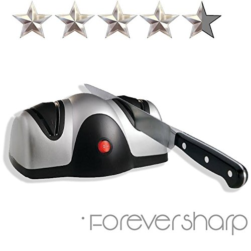 Professional Electric Automatic Knife Sharpener Electronic 2 Stage Knife Sharpener Forever - Electric Silver Sharpener