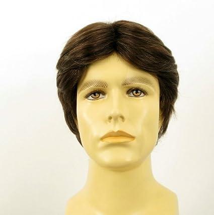 Peluca de pelo natural corta para hombre, diseño de chico con pelo/THIBAULT 6spw