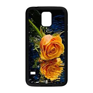 DIY noble rose Phone Case, DIY Case for samsung galaxy s5 i9600 with noble rose (Pattern-2)