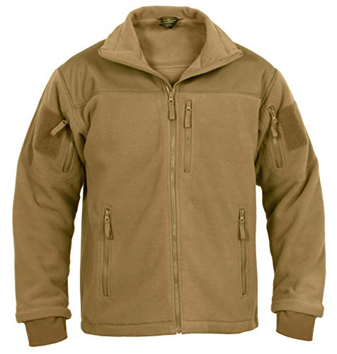 Rothco Spec Ops Tactical Fleece Jacket, Coyote Brown, XL (Mens Army Fleece Jacket)