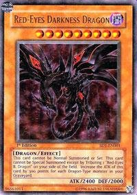 Yu-Gi-Oh! - Red-Eyes Darkness Dragon (SD1-EN001) - Structure Deck 1: Dragon's Roar - 1st Edition - Ultra (Red Eyes Structure Deck)
