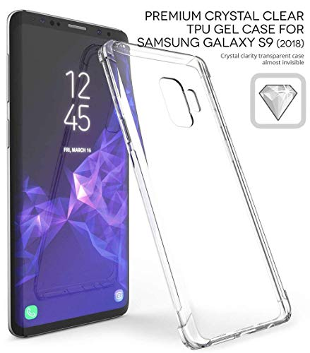 Cheap Samsung Galaxy S9 Silicone Crystal Clear TPU Bumper Anti-scratch Hard PC Transparent Back Panel Protective Case Scratch Resistant Soft Skin Silicone Protective Case Cover for Samsung Galaxy S9 (2018)