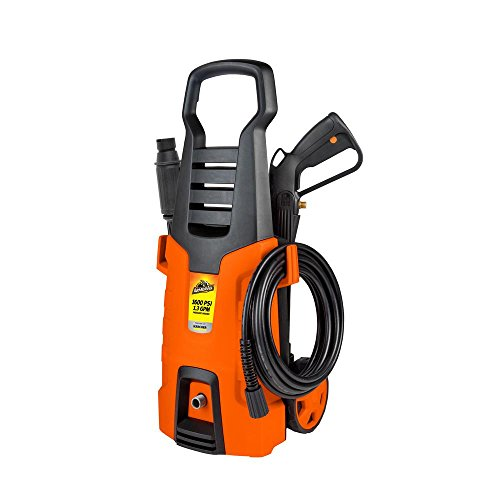 Armor All 1600-PSI 1.3-GPM Electric Pressure Washer with Detergent Foamer, Onboard Pockets and Included Variable Spray Nozzle, All Metal Hose Connection for Longer Life and Durability For Sale