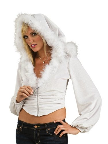 Secret Wishes Snow Bunny Hoodie, White, One Size]()