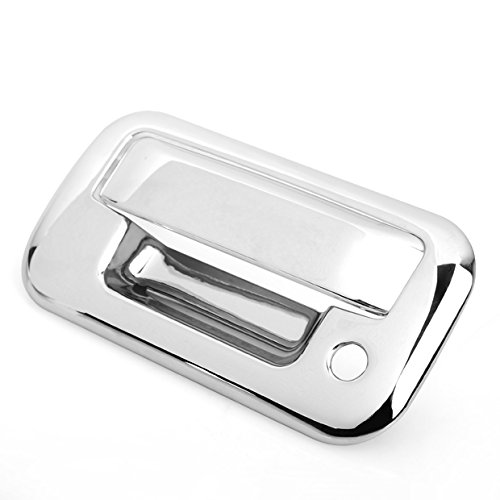 Triple Chrome Plated Rear Door Tailgate Handle Cover Kit For FORD F150 Crew Cab/Super Crew 04-11 F-250 Super Duty F-350 Super Duty F-450 Super Duty 08-11 Explorer Sport Trac 07-10 Lincoln Mark LT 04-07