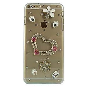 FJM Love Design Pattern Transparent PC Hard Case for iPhone 6 Plus