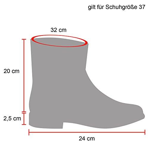 Damen Schlupfstiefel Warm Gefütterte Stiefel Schleifen Ketten Nieten Print Schuhe Blumen Pailletten Winter Boots Flandell Grau Schleifen