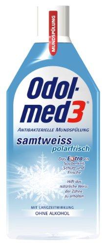 Odol med 3 Mundspülung Samtweiss Polarfrisch, 500 ml