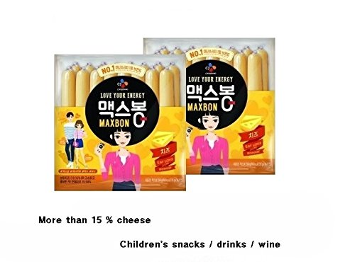 CJ Maxbon Cheese Sausage snack 560g / instant food / instant snack / Korean food (2pack) by CJ (Image #2)