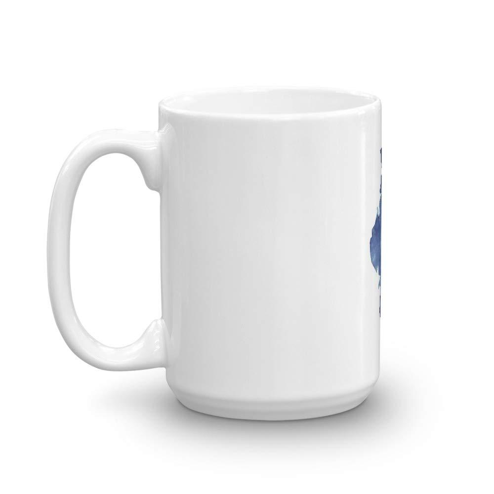 Illinois with Stars Mug 15 Oz White Ceramic