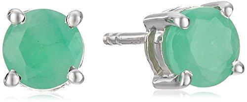 142-Carat-Genuine-Emerald-925-Sterling-Silver-Earrings