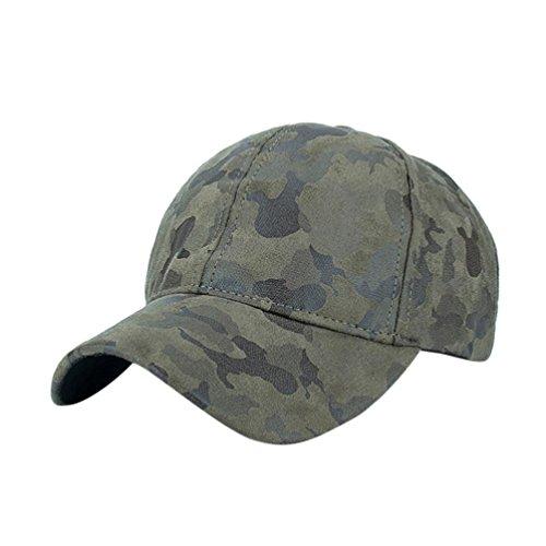 Women adjustable Camo baseball Hats(Army Green) - 5