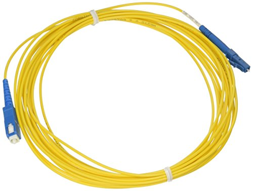C2G/Cables to Go 34709 LC-SC 9/125 OS1 Simplex Single-Mode PVC Fiber Optic Cable (6 Meters, Yellow)