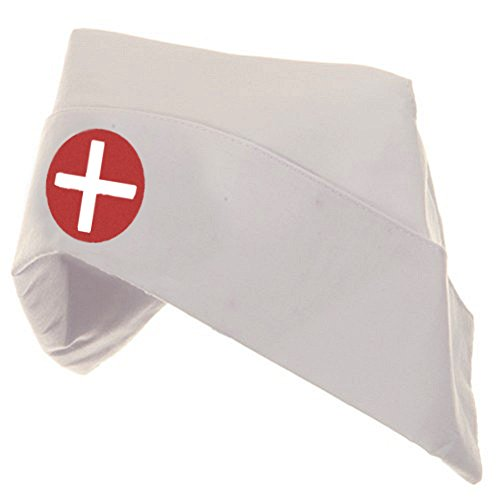 Adult Women's Nurse Hat Costume Bonnet -