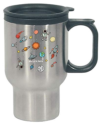 Funny Solar System - Space Ship Rocket - Sun - Stainless Steel Travel Mug by Stuch Strength LLC