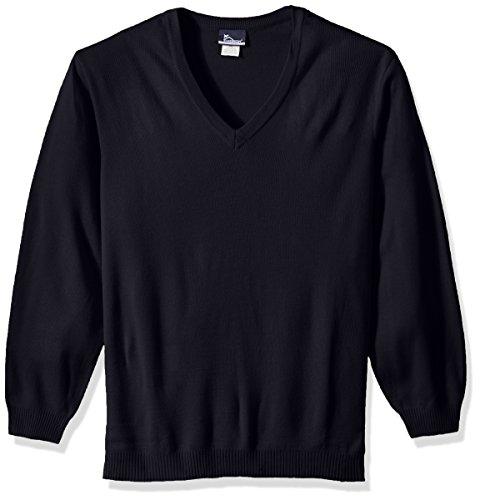 (Classroom School Uniforms Men's Big and Tall Plus-Size Adult Unisex Long Sleeve V-Neck Sweater 2Xl-3Xl, Blue, 3XL)