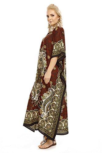 Abito Taglia Maxi Tunica Oversize Da Kaftan Unica Kimono Looking Glam Nuovo Donna Caftano FqTPzwp