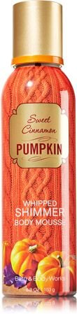 Bath & Body Works Sweet Cinnamon Pumpkin Whipped Shimmer Body (Whipped Body Mousse)