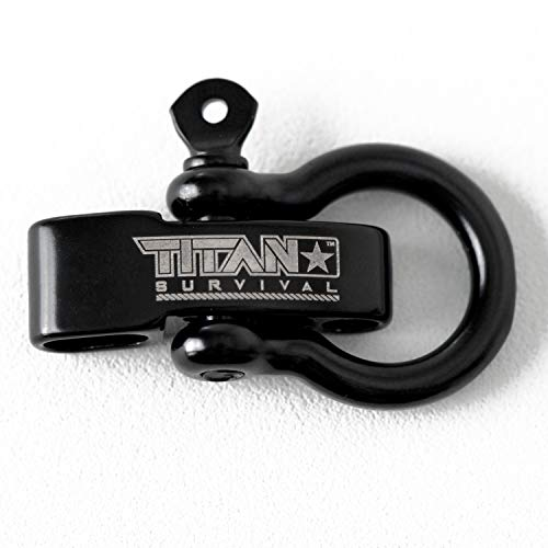 Titan Bow Shackles for Paracord Bracelets (5-Pack) | Premium Stainless Steel Metal Clasps Holds Up to 1650 lbs in an Emergency. by TITAN Survival (Image #1)