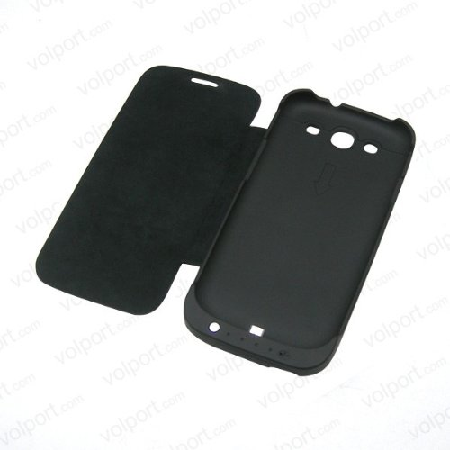286 opinioni per Flip Cover Case con Batteria esterna Slim Nero per Samsung Galaxy S3 III i9300