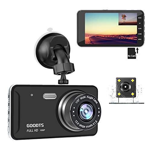 GOODTS Dual Dash Cam Front and Rear 4' IPS Screen FHD 1080P 6G Lens...