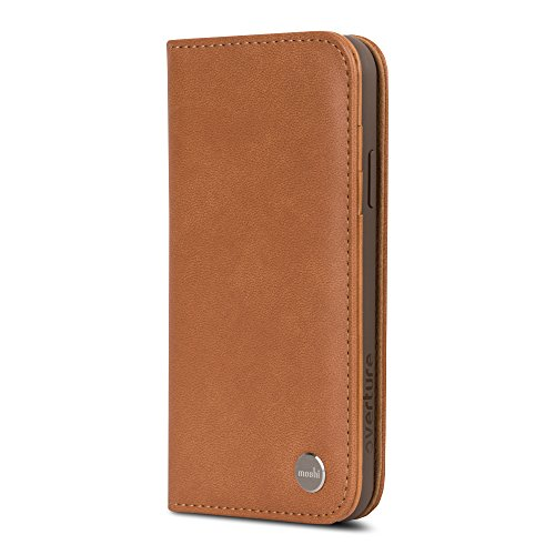 Moshi Overture Wallet Case for iPhone X Caramel Brown