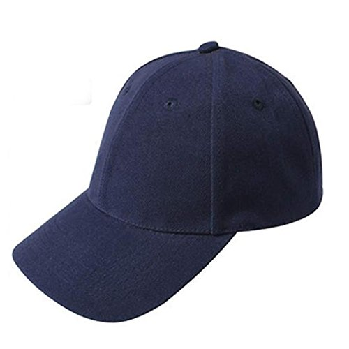 UOFOCO Baseball Cap Blank Hat Solid Color Adjustable Hat Navy