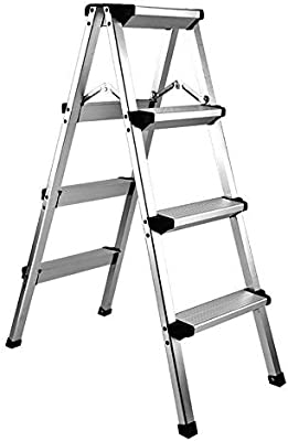 AINIYF Escalera de aluminio Plegable antideslizante Ligero 330 libras Capacidad Plataforma Taburete Escalera de tijera plegable Escalera escalonada con doble lado antideslizante y Pedal ancho para uso: Amazon.es: Bricolaje y herramientas