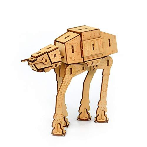 Bigfanshu Home Decor Walking Machine Animal Puzzle Wooden Puzzle Toy 3D Three-Dimensional Puzzle Custom Wooden Stitching DIY Manual Model