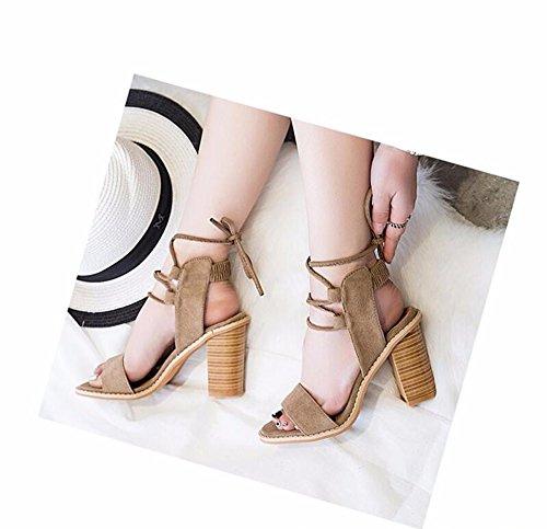 Up Flip Clair Flops Open Chaussons Elégant Tongs Lace Talon Couleur Haut Toe Femme Pumps Unie Minetom Bronzage Chaussures Sandales 0xO6w