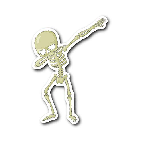 Weezag Dabbing Skeleton Halloween Costume Sticker for Car Bumper, Gifts for Halloween Trick Treat Party
